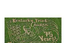 Mascot-Themed Corn Mazes - This KFC Corn Maze Makes You Navigate Around Colonel Sanders' Face