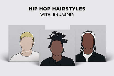 Rapper Hairstyle Illustrations - Ibn Jasper Has Created a Fun Guide to Classic Hip-Hop Hairstyles