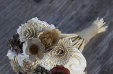 Sustainable Bouquets - Flowers from 'Eco Flower' are Crafted from Bamboo, Old Books and More