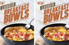 Fast Food Breakfast Bowls - This Savory Breakfast Dish is Made from Hearty Ingreidents