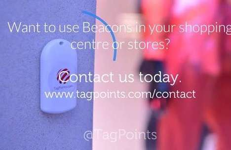 Instructional Beacon Shopping Ads - This TagPoints Ad Shows Viewers How to Use Beacon Technology