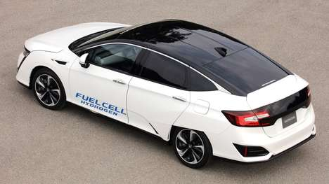 Compact Hydrogen Cars - The New Honda FCV Vehicle Gives Off Water Vapors Instead of Emissions