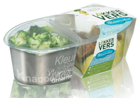 Compartmentalized Microwaveable Foods - The Lekker Vers Frozen Packaging Sections Off Edibles