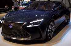 Flagship Concept Sedans - The Lexus LF-FC Concept Features Futuristic Design and Technology