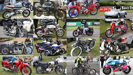 Vintage Motorbike Festivals - The Barber Vintage Festival Features Motorbikes, Races and Artwork
