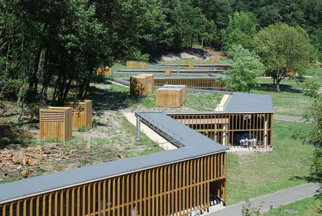 Maze-Like Resting Areas - This Zigzagging Building Provides a Sleeping Area for Pilgrimages
