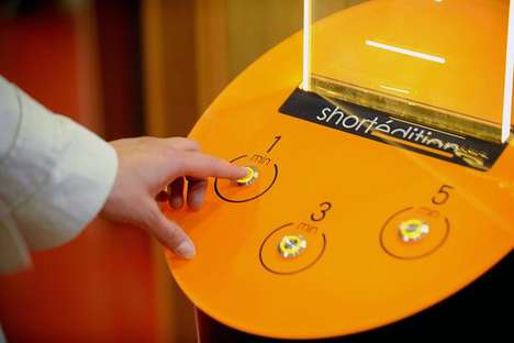 Short Story Vending Machines - This Machine Opts for Dispensing Literature Rather than Junk Food