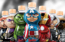 Heroic Water Bottles - The Limited-Edition 'Avengers Bonafont' Bottles Feature Seven Marvel Heroes