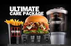 Gamified Burger Ads - This Call of Duty & Carl's Jr. Ad Promotes the Duo's Ultimate Care Package
