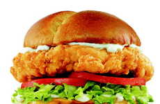 Supersized Chicken Sandwiches - This Hearty Sandwich Features a Monstrous Chicken Breast Fillet