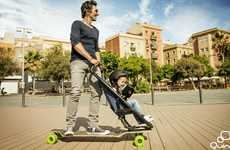 Skateboard-Inspired Strollers - The Longboardstroller Lets Parents Zip Urban Streets With Their Kids