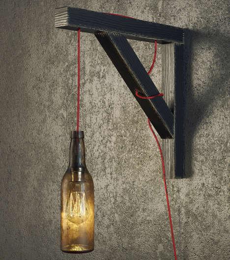 Industrial Beer Bottle Lamps
