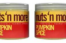 Pumpkin-Flavored Peanut Spreads - This Gourmet Nut Butter is Packed with Added Protein and Flax