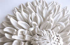Ceramic Flower Sculptures