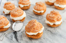 Autumnal Pie Cream Puffs - This Recipe Offers the Pumpkin Pie Dessert in a Lighter Format
