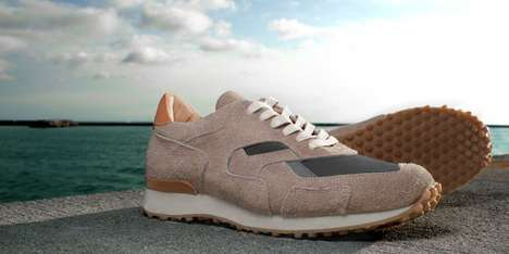 Fuzzy Suede Sneakers - The 'Pronto Beach' Shoe Mixes Sandy Summertime Colors with Warm Materials