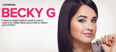 Latina Popstar Makeup Campaigns - This YouTube Star is One of the Newest Faces of 'Covergirl'