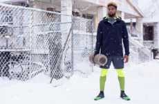 "Snow-Filled Sportswear Ads - The Nike Snow Day Campaign Encourages People to ""Get Out Here"""