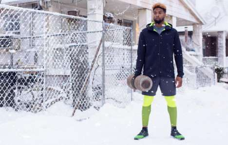 Snow-Filled Sportswear Ads