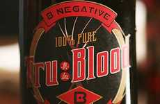 Gruesome Blood Sodas - This Tru Blood Pop Flavor Features a Vampire-Inspired Aesthetic