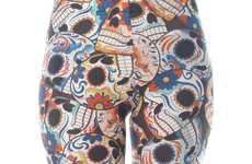 Festive Sugar Skull Leggings