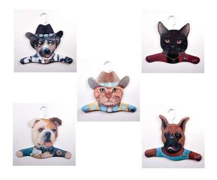 3D Animal Coat Hangers