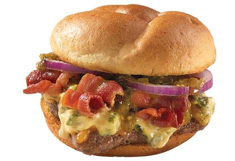Queso-Topped Burgers - This Restaurant is Now Offering a Spicy Hamburger Dosed in Queso Sauce