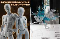 Anime Art Dolls - These Poseable Dolls Allow Comic Artists to Create Impossible Stunt Scenes
