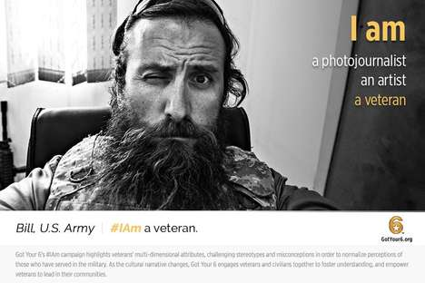 Humanizing Veteran Campaigns - These 'Got Your 6 Posters' Reveal the Identities of Army Veterans