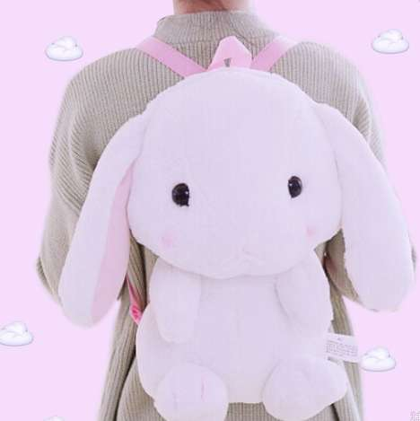 Plush Bunny Backpacks