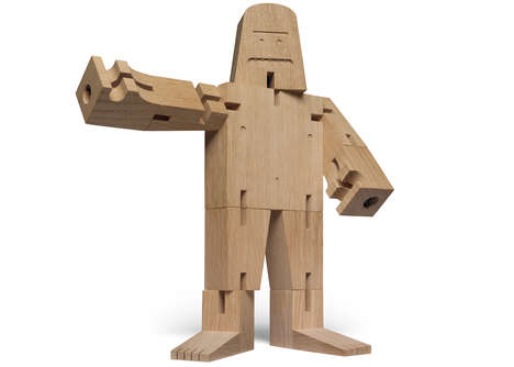 Mythical Wooden Toys - This Decorative Wooden Character is Designed to Resemble Bigfoot