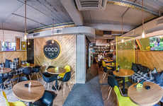 Industrial Pub Interiors - 'The Coco Pub' Combines Industrial Design with Modern Wood Accents