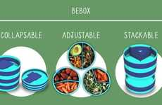 Modular Meal Containers - The Bebox is a Set of Collapsable Containers Made for Active Meal Preppers