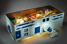Galactic Pinball Machines - This R2D2 Pinball Game Machine Doubles as a Coffee Table