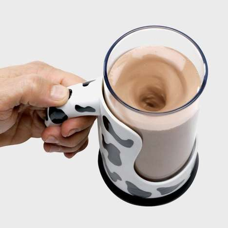 Self-Mixing Mugs - The Moo Mixer Supreme Makes Making Chocolate Milk Easier Than Ever