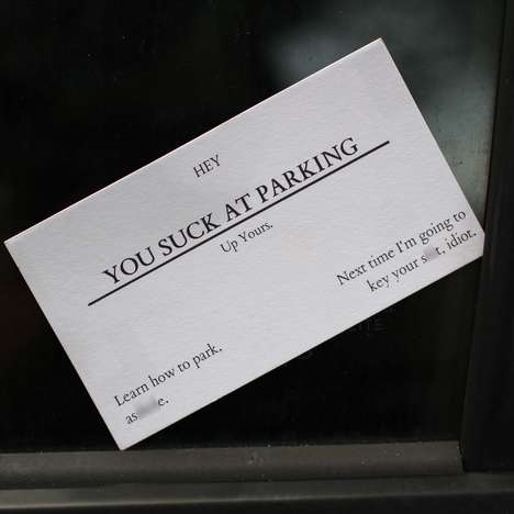 Aggressive Parking Business Cards