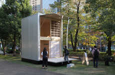 Minimalist Japanese Microhomes - These Tiny Wooden Huts Feature Only the Bare Essentials