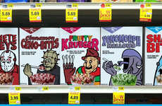 Serial Killer Cereals - Kate Willaert Places Murderous Characters on Breakfast Cereal Boxes