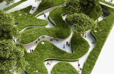 River-Inspired Landscapes - This Winding Pathway is Meant to Be a Reminder for Preserving Water
