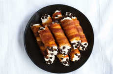 Savory Bacon Cannolis - These Fried Italian Desserts are Filled with Crispy Meat for Added Crunch