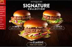 Gourmet Fast Food Burgers - The McDonald's 'Signature Collection' has Thick Burgers and Brioche Buns