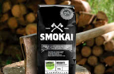Flavored Meat-Smoking Woodchips - The 'Smokai' Meat-Smoking Woodchips Boats a Masculine Brand Image