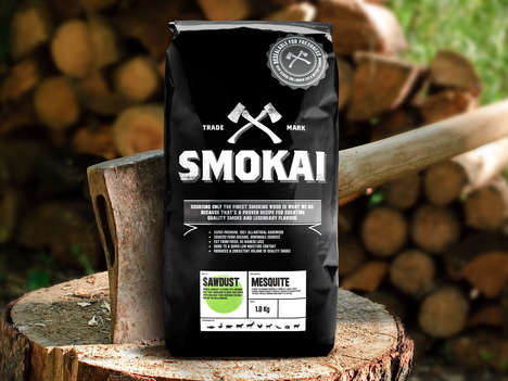 The 'Smokai' Meat-Smoking Woodchips Boats a Masculine Brand Image