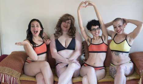 Inclusive Lingerie Campaigns - The '#IAmNeonMoon' Campaign Aims to Combat Transphobia & Body Shaming
