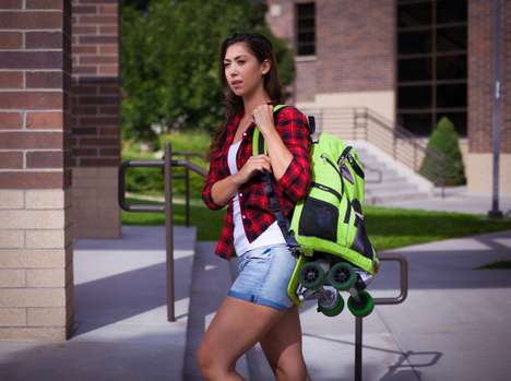 Skateboard-Embedded Backpacks