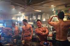 Novelty Macho Restaurants - The 'Macho Meat Shop' in Tokyo Features Muscular Male Servers