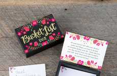 Motivational Wish Boxes - This Wooden Box from Natural Life Keeps Bucket List Ideas Safe