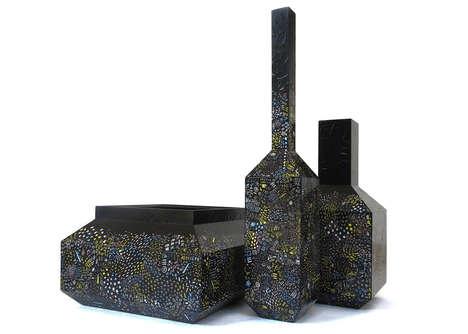 Scratchable Black Vases