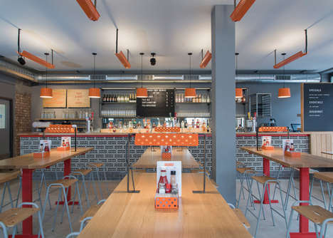 Industrial Restaurant Interiors - This Fast Food Eatery Boasts a Chic Vintage Interior