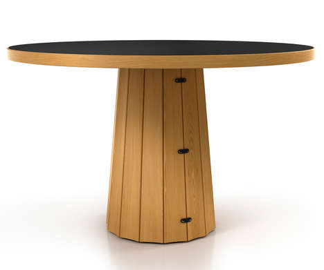 Timber-Clad Side Tables